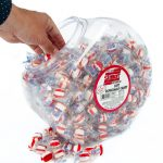 Soft Peppermint Puffs Candy Balls – 96oz Tub, Bulk Individually Wrapped Mints, For Office, Break Room, Business – Fat-Free, Cholesterol-Free, Gluten-Free